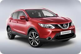 Nissan Qashqai 2014 в красном цвете