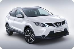 Nissan Qashqai 2014 в белом цвете